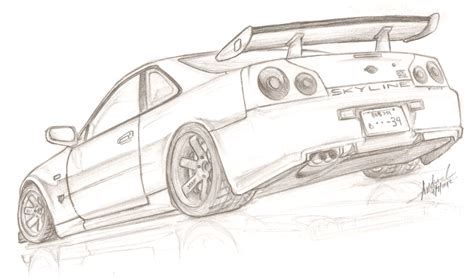 Nissan Gtr R34 Free Coloring Pages