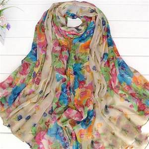 Beautiful Totem Women's Floral Flower Scarf Shawl Wrap ...