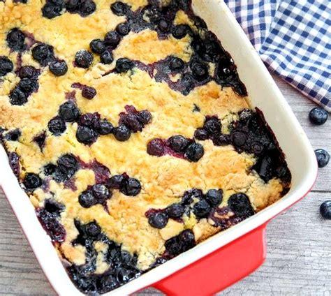 blueberry pie filling cake mix dessert recipe