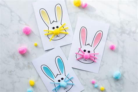 easter bunny card   ideas  kids