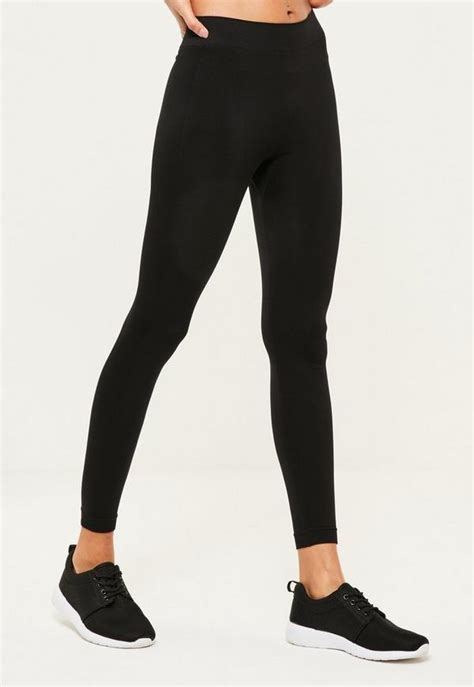 active black length seamless sports missguided