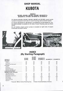 Kubota B6100hst-d Tractor Service Repair Manual By 1639483