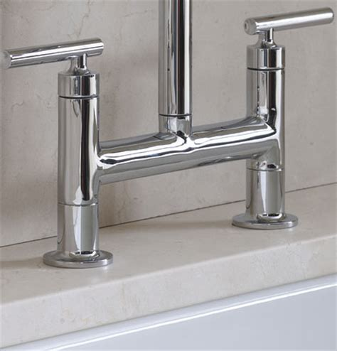 Kohler Purist Bridge Faucet by Kohler K 7548 4 Vs Purist Deck Mount Bridge Faucet With