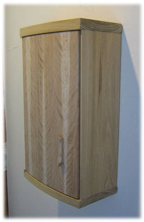 Hicks Woodworking » Coopered Oak Wall Cabinet