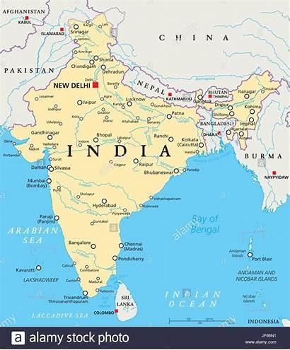 India Map Political Alamy Vector Shopping Cart
