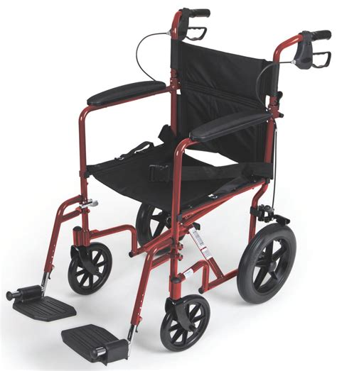 Medline Transport Chair by Aluminum Transport Chair With 12 Quot Wheels Careway