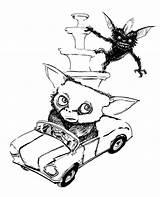 Gremlins Coloring Gizmo Colorear Sketch sketch template