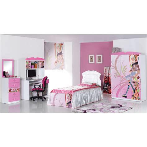 chambre enfant fille complete chambre fille compl 232 te 3 pi 232 ces lit bureau