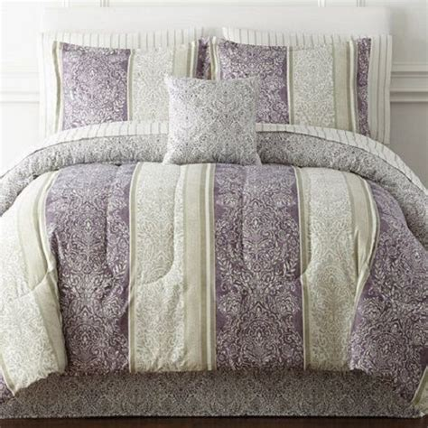 home expressions size reversible bedding purple ivory new jcpenney ebay all