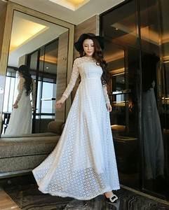 Robe longue romantique dentelle la mode des robes de france for Robe romantique dentelle