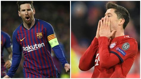 Footballers on messi vs ronaldo | part 3 ft. Barcelona vs Lyon: Messi level with Lewandowski in ...