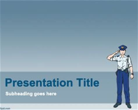 police powerpoint template