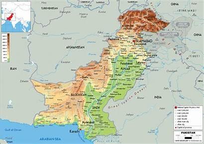 Pakistan Map Physical Maps Screen Worldometer Enlarge