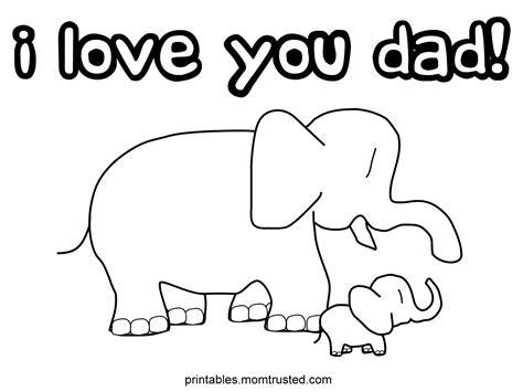 love  dad elephants coloring page preschool activities  printablespreschool activities