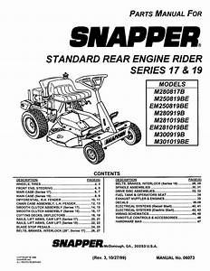 Snapper M301019b User U0026 39 S Manual