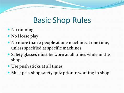 general shop safety