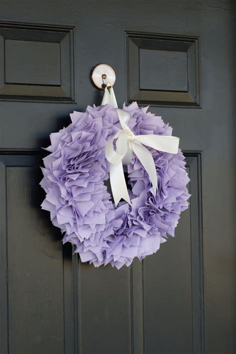 shabby chic fabric wreath purple summer wreath luxurious fabric wreath bow baby shower wreath shabby chic wreath