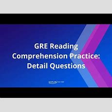 Gre Reading Comprehension Practice Detail Questions  Kaplan Test Prep Youtube