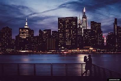 Skyline Nyc York Night Detroit Couples Jlbwedding