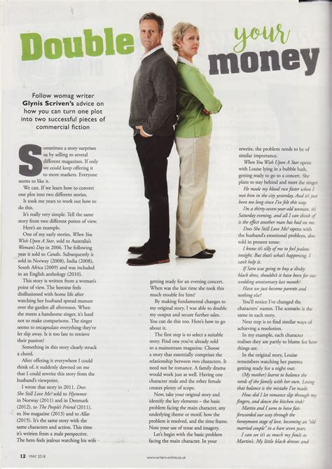 Writing Magazine - feature article by Glynis Scrivens page ...