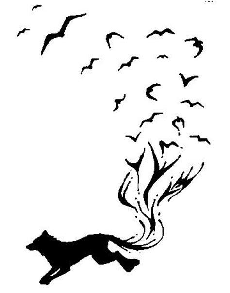 Wolf and Birds Tattoo by lmclawson on DeviantArt