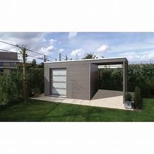 Brise Vue Bois: Abri de jardin toit plat au design