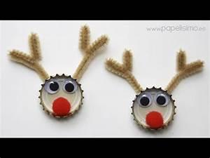 Adornos de Navidad reciclados con chapas de refresco YouTube
