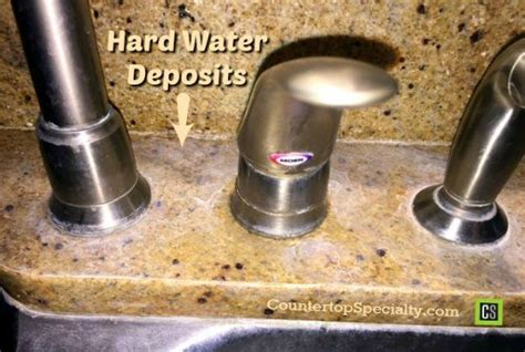 how to clean water stains from quartz countertops