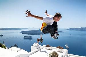 Red Bull Free Running Acrobatics On Santorini  Simply