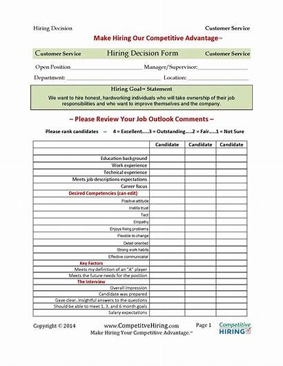 Hiring Forms Form Evaluation Interview Decision Hire