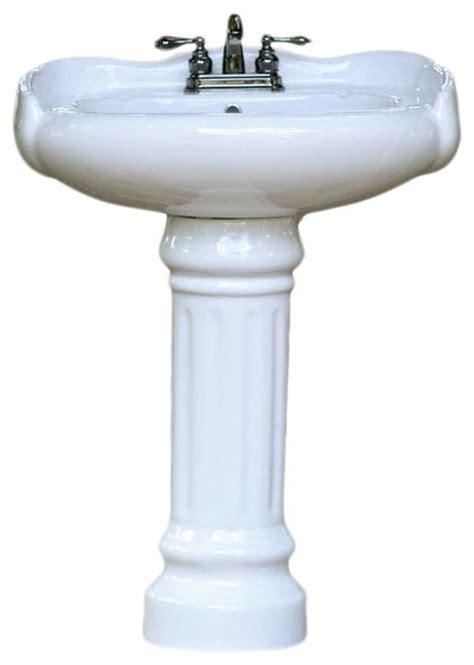 reproduction bathroom sinks porcelain georgian style rounded pedestal bath sink 14195