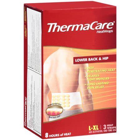 heat l walmart thermacare lower back hip heat wrap l xl 3 ct
