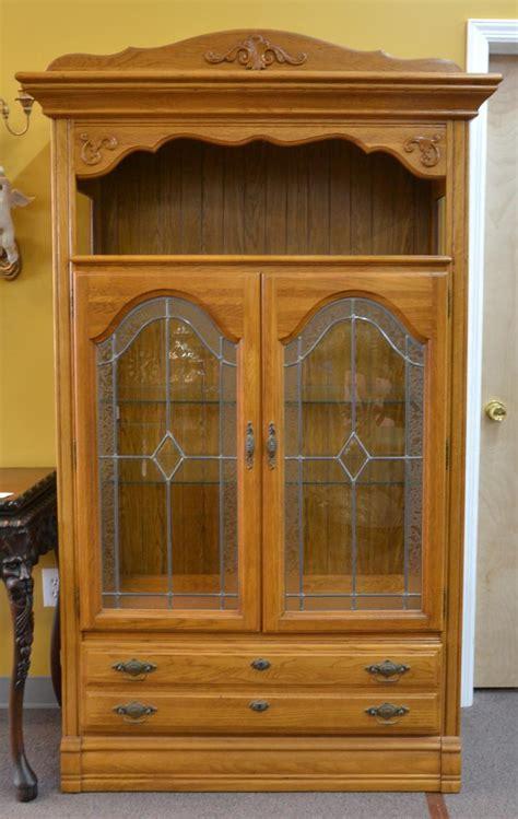 oak china cabinets for oak beveled glass china cabinet