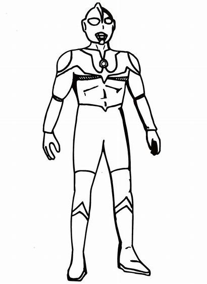 Ultraman Coloring Pages Drawing Zero Printable Stencil