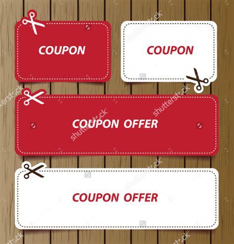 printable coupon design templates   sample