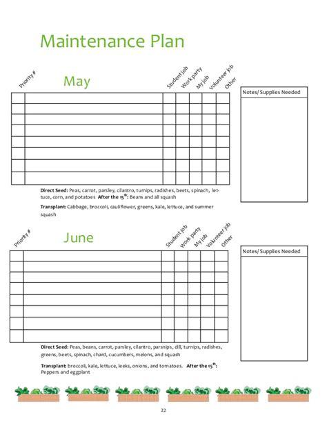 school schedule template summer in the school garden a resource for working with