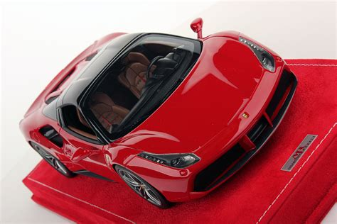 The most important thing is that 488 in launch control mode revs higher and has better acceleration above 100 km/h than during normal acceleration so either spider is significantly slower. Ferrari 488 Spider Hard Top 1:18   MR Collection Models