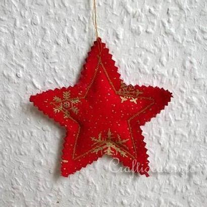 Fabric Star Christmas Tree Ornament   AllFreeSewing.com