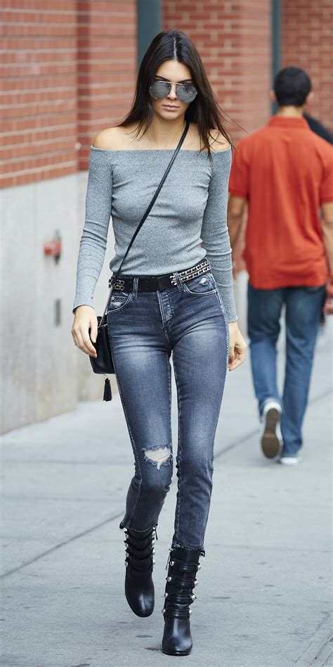 kendall jenner casual style leaving  apartment