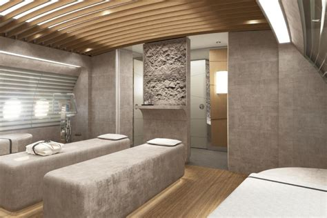massage room   onboard spa  lufthansa technik