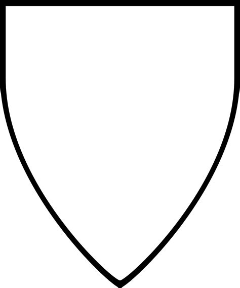 Shield Template Shield Template Vector Pencil And In Color