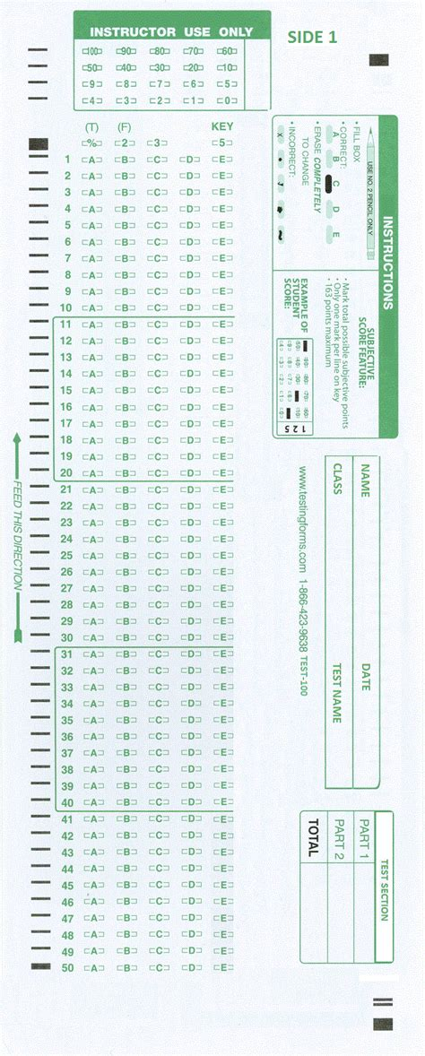 scantron 882 e 882 compatible forms 100 500 or 1000 sheet