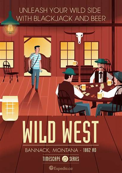 Travel Wild West Posters Destination Series Expedia
