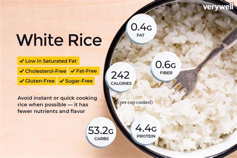 rice nutrition facts calories carbs  health benefits
