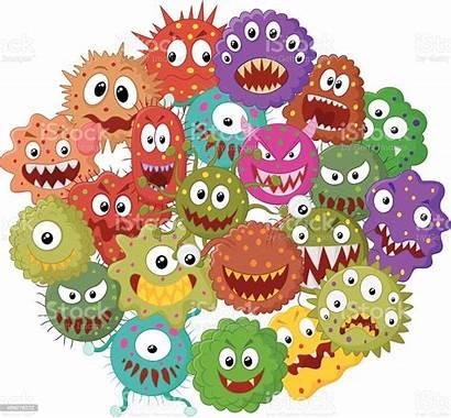 Bacteria Cartoon Comic Depositphotos Vektor Coronavirus Microbe