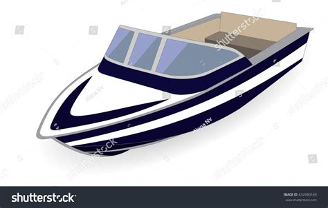 Motor Boat Vector by Motor Boat Isolated On White Stock Vector