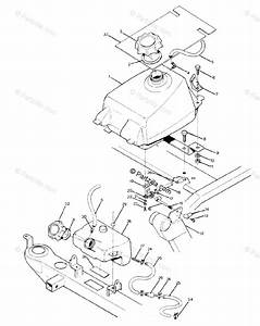 Polaris Atv 1989 Oem Parts Diagram For Fuel Tank Assembly