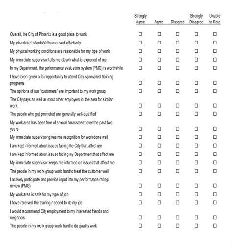 blank survey templates  word excel
