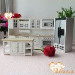 miniature dollhouse kitchen furniture bl 1 12 dollhouse miniature diy furniture wood oak kitchen set fridge microwave oven baking oven