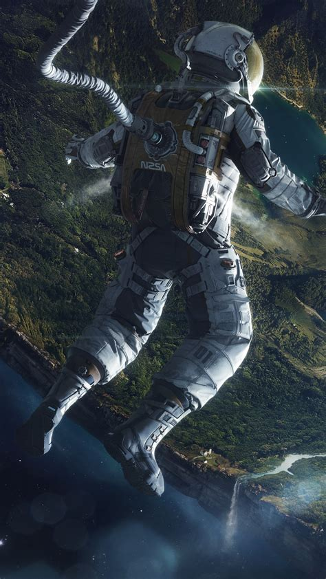 wallpaper astronaut vortex black hole sci fi